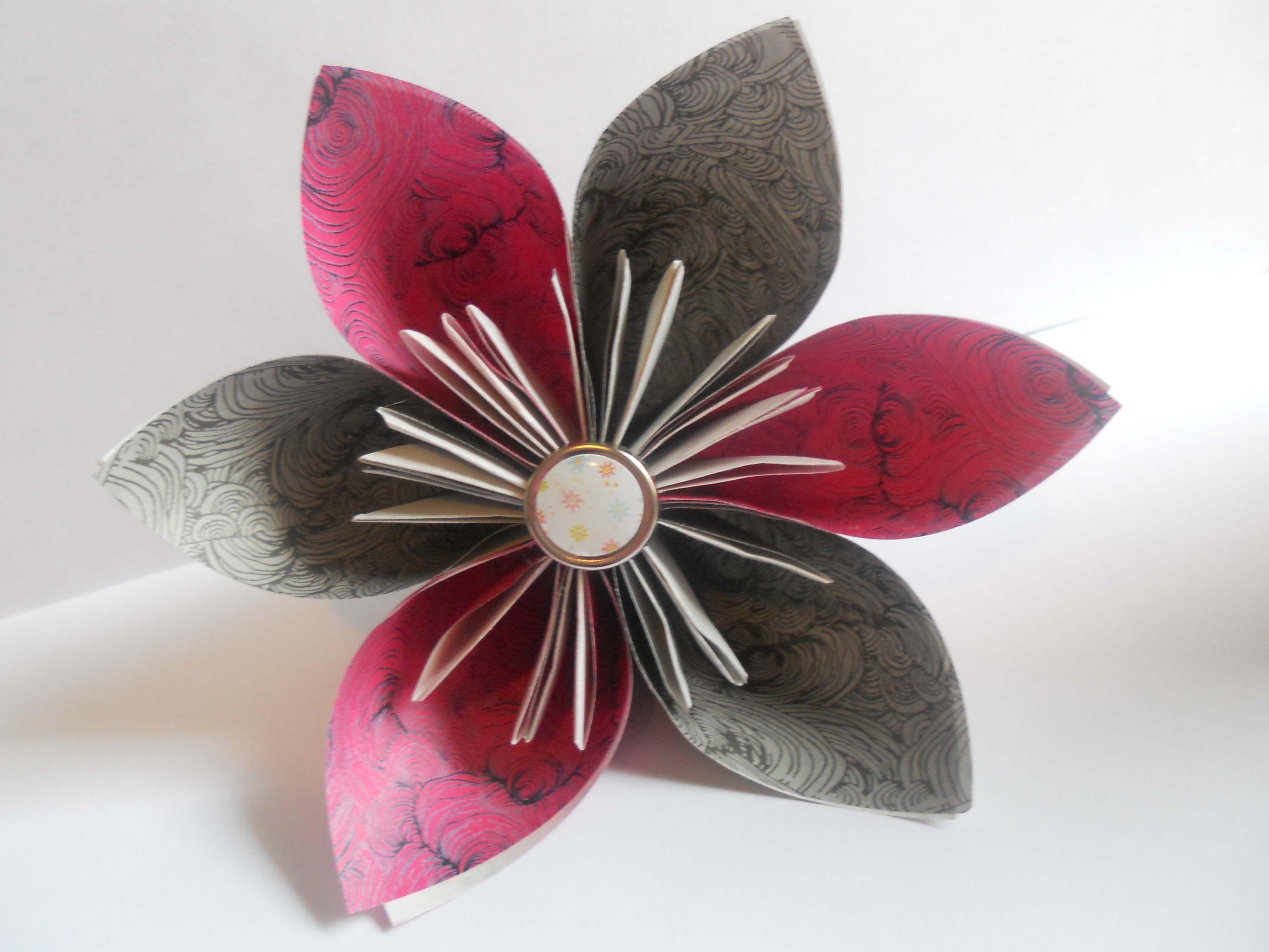 How to make an origami kusudama flower jeuxipadfo Gallery