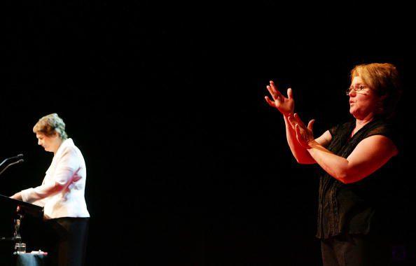 Photo of sign language interpreter