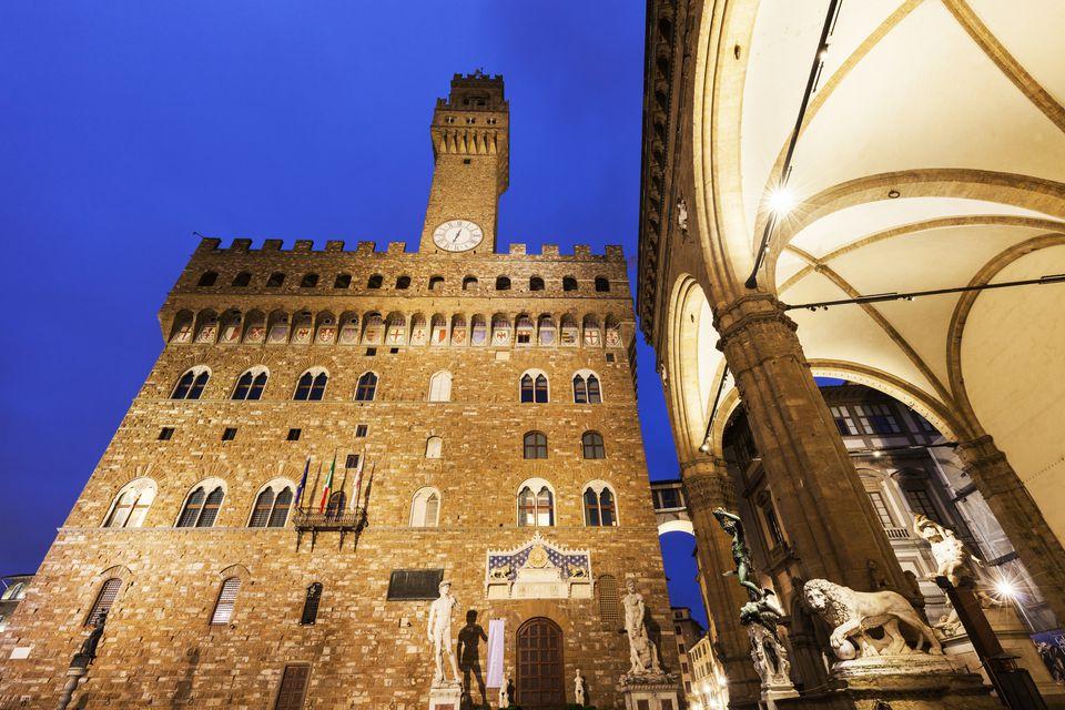 Piazza della Signoria in Florence, Tuscany, Italy.