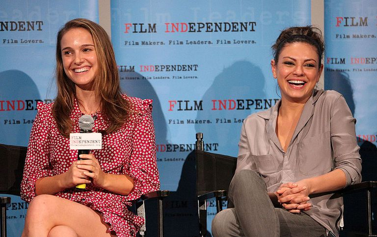Actresses Natalie Portman and Mila Kunis attend Film Independent's screening of 'Black Swan' at ArcLight Cinemas on November 15, 2010 in Hollywood, California.