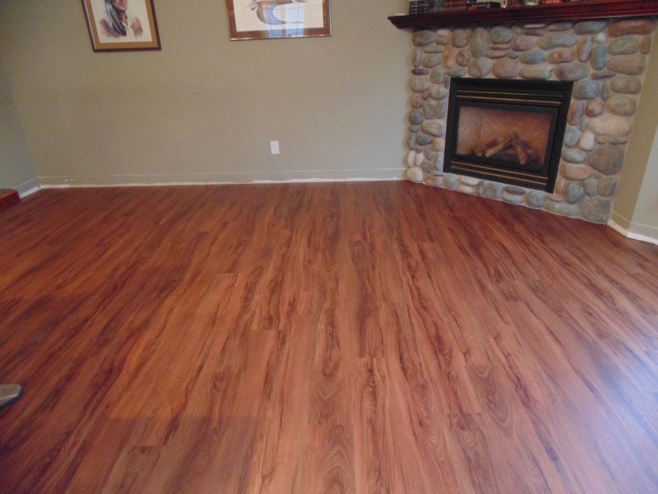 Installing allure vinyl plank flooring for Can you paint over linoleum floors