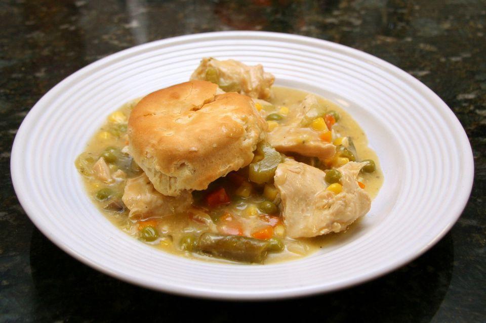 Crock Pot Chicken With Biscuits