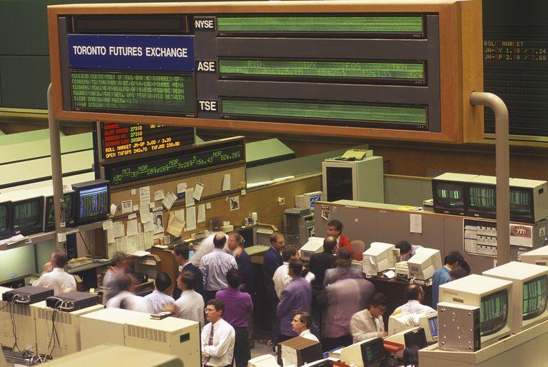 Stock exchange, futures traders, Toronto, Ontario, Canada