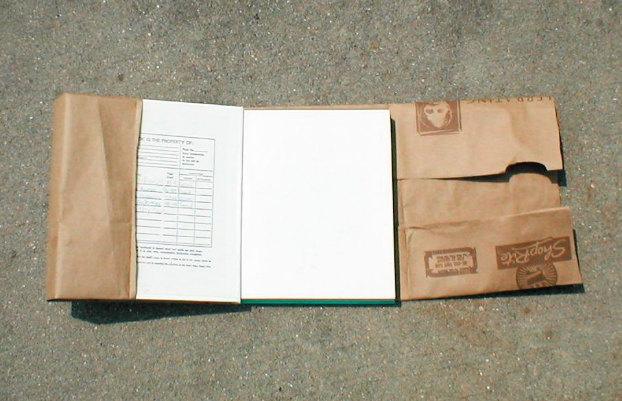 Inside Book Cover Paper : How to make a book cover with paper bag