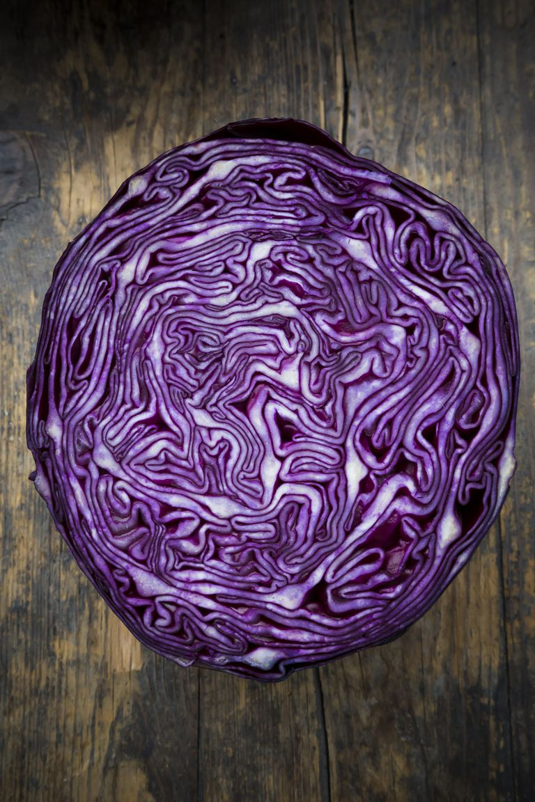Half of red cabbage