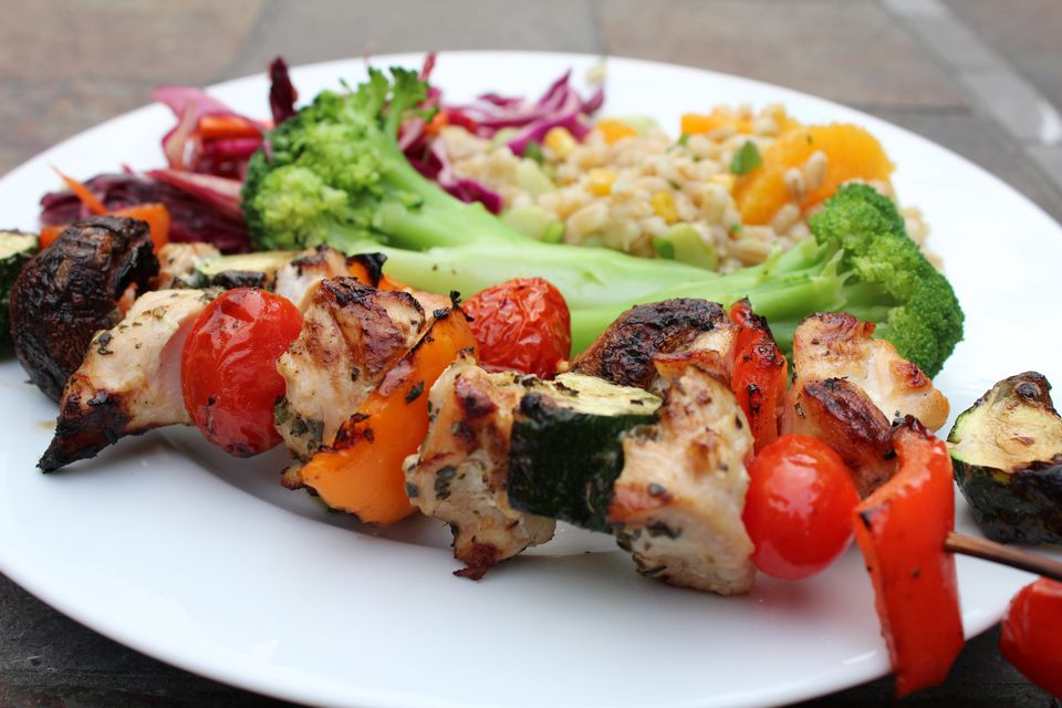Chicken and Veggie Kebabs