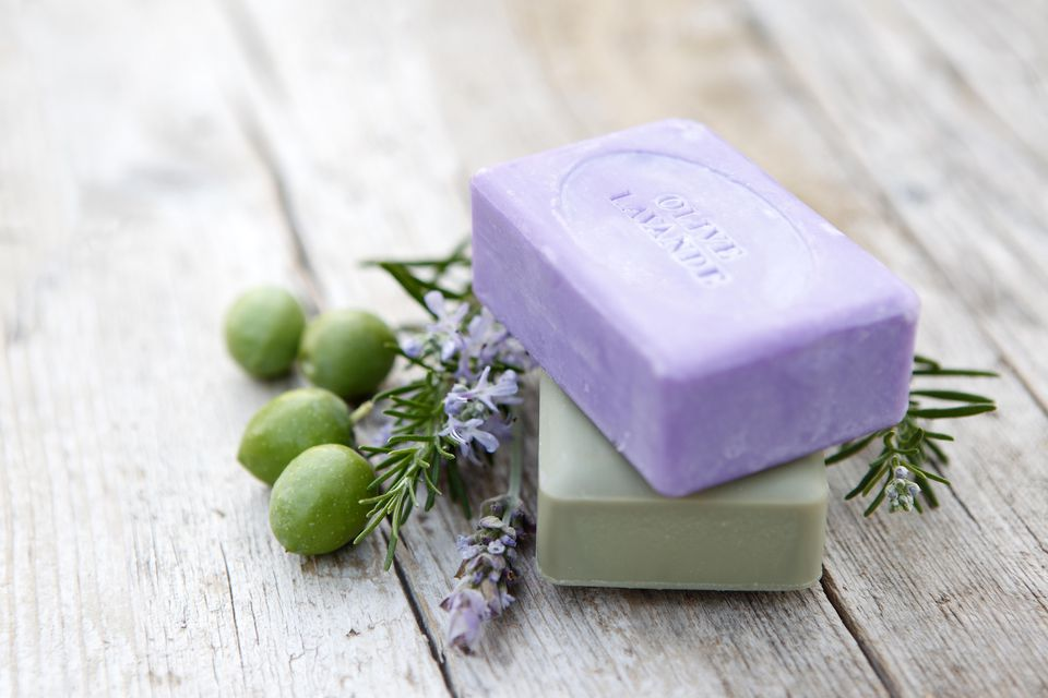Soaps with herbs
