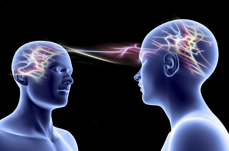A psychic connection between two minds