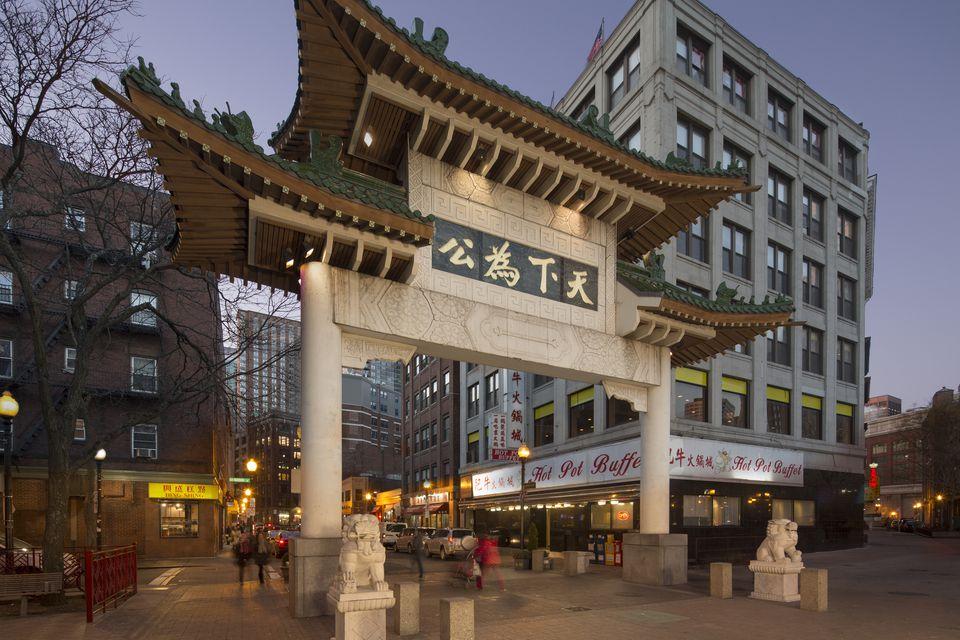 Chinatown gateway, Beach St., Boston, MA
