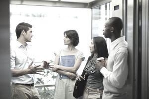 meeting in elevator