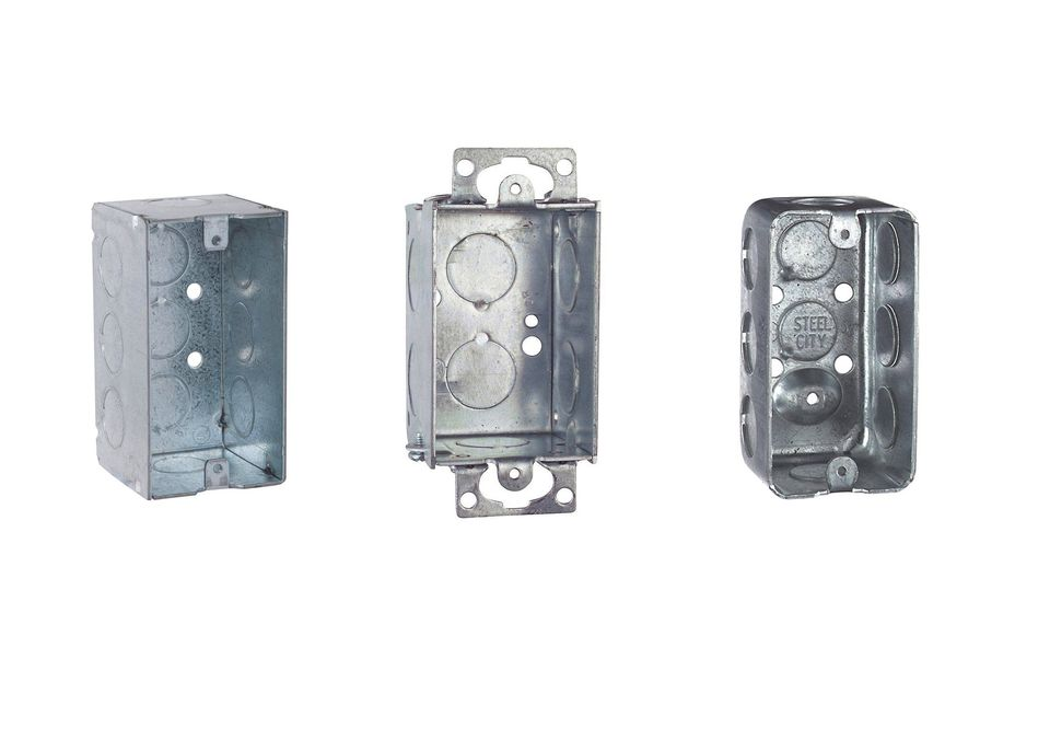 Metallic Electrical Boxes : Different types of new work metal switch boxes