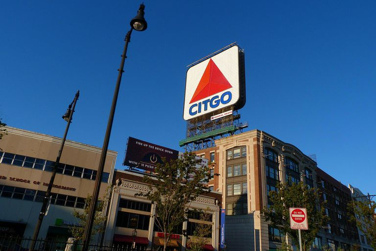 The Citgo Sign in Kenmore Square on the Boston University Campus