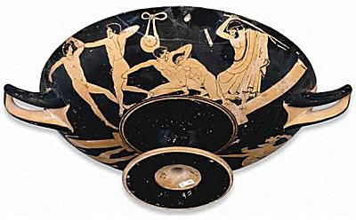 Attic Red-Figure cup, attributed to the Foundry Painter, c. 500-475 B.C. at the British Museum.