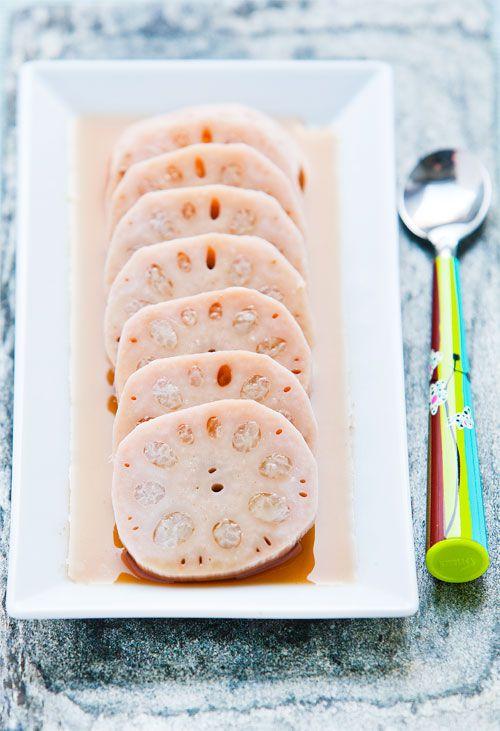 Fabulous stuffed lotus root with sweet sticky rice dessert