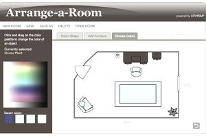 Screenshot of a floor plan designed using Better Homes and Gardens Arrange-a-Room