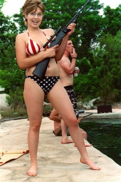 Palin bikini assault rifle