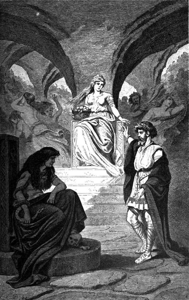 Heimdal verlangt die Rückkehr Iduns aus der Unterwel