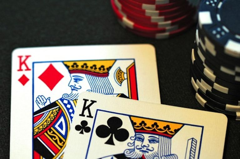 A pair of kings -- the second best starting hand in no-limit holdem