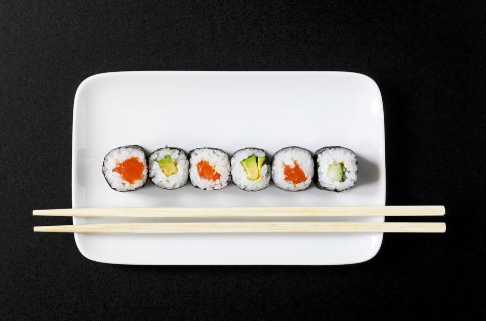 Maki Sushi on plate