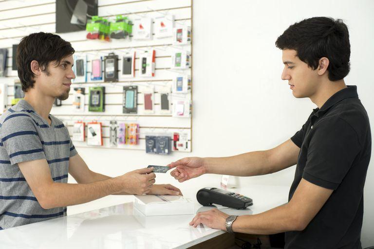 Computer Accessories Shop Customer handing...