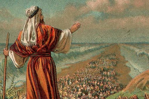 Illustration of The Exodus from Egypt, 1907