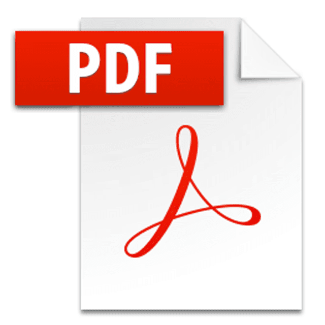Picture of the PDF icon used by Adobe Acrobat Reader