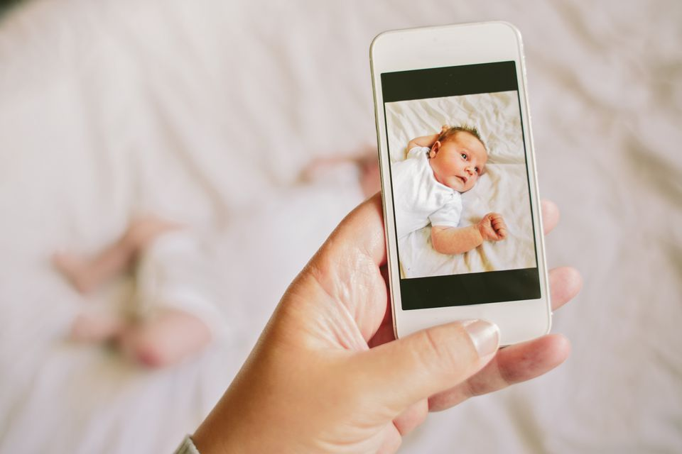 Baby video monitor on a cell phone