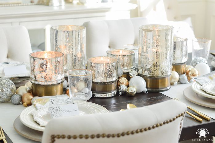 22 Pretty Christmas Table Decorations Amp Settings