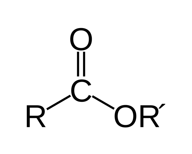 The formula for the ester functional group is RCOOR'.