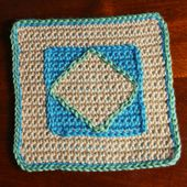 Crochet Diamond Afghan Square