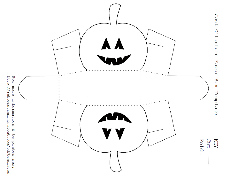 fingerprint paper template - free printable jack o 39 lantern favor box template