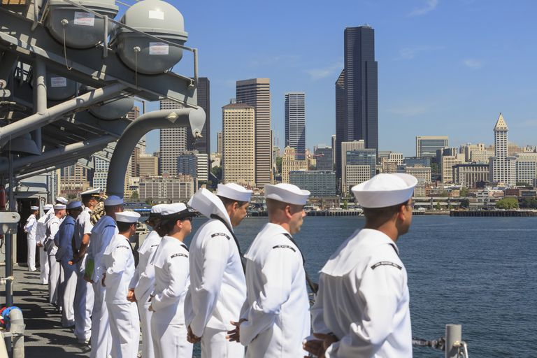 Fleet Week in Elliott Bay, Seattle