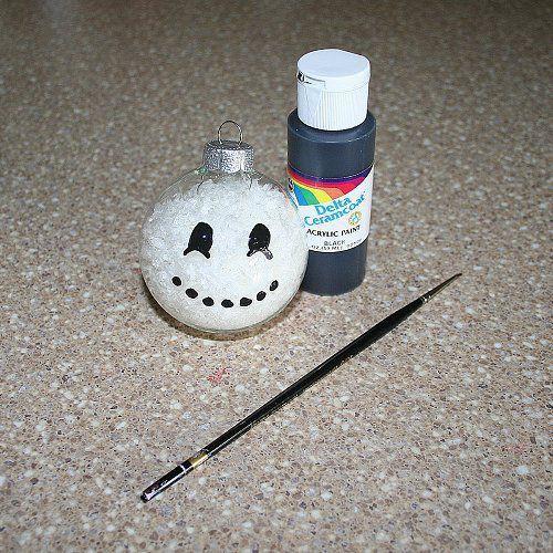 Paint on the Snowman Face
