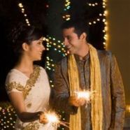 A Hindu Couple Celebrates Diwali