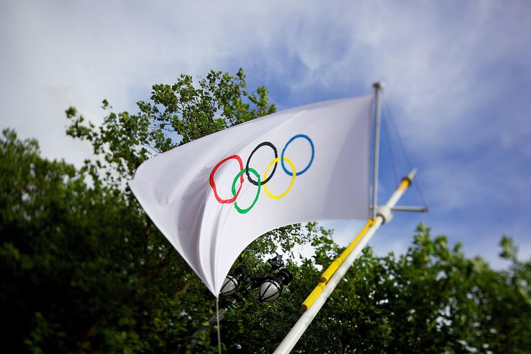The Olympic flag at London 2012