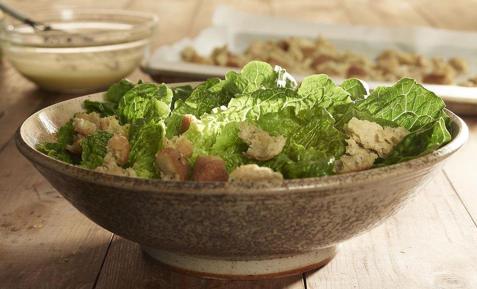 Prepared caesar salad
