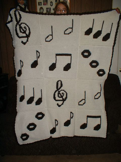 Crochet Music Blanket Free Pattern