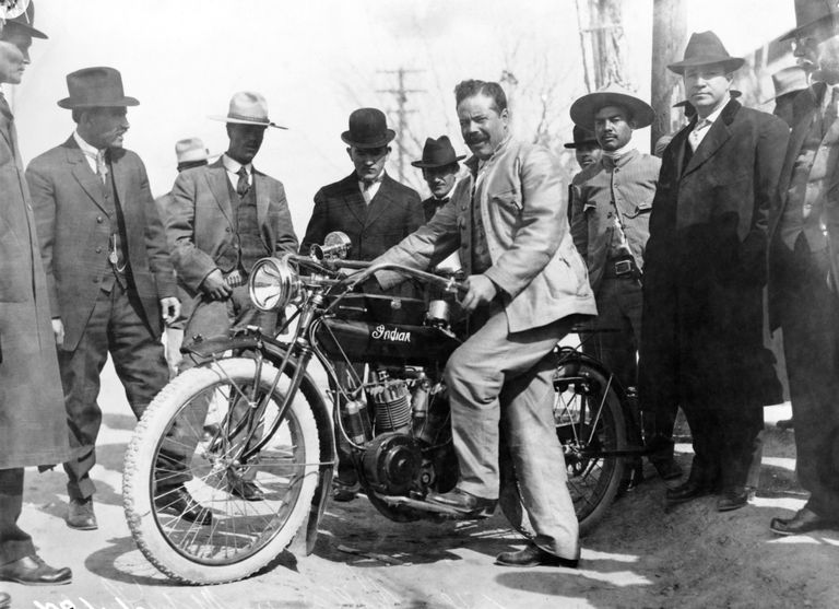 Pancho Villa with Motorcycle