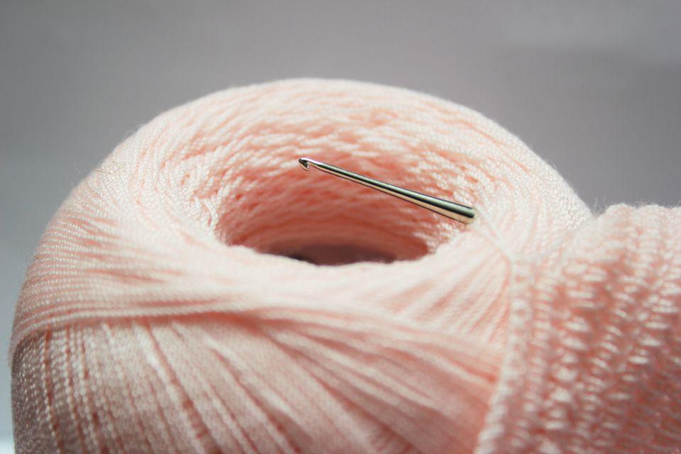 Knitting wool and crochet hook