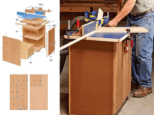 9 free diy router table plans you can use right now the family handymans router table plan keyboard keysfo Images