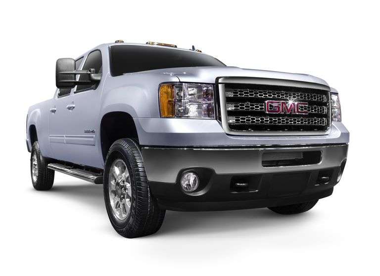 2012 GMC Sierra 2500HD General Motors pickup truck. Isolated on white background with clipping path.