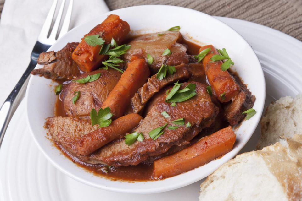 Beef Brisket with Vegetables and Country Bread