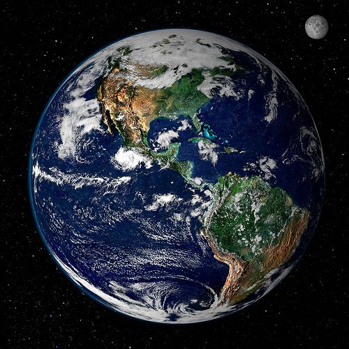 satellite view of earth