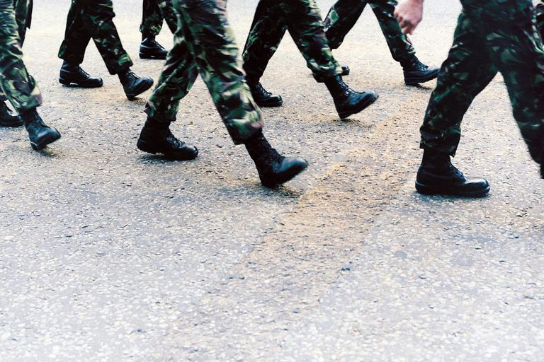 Army Soldiers Marching, Low Section