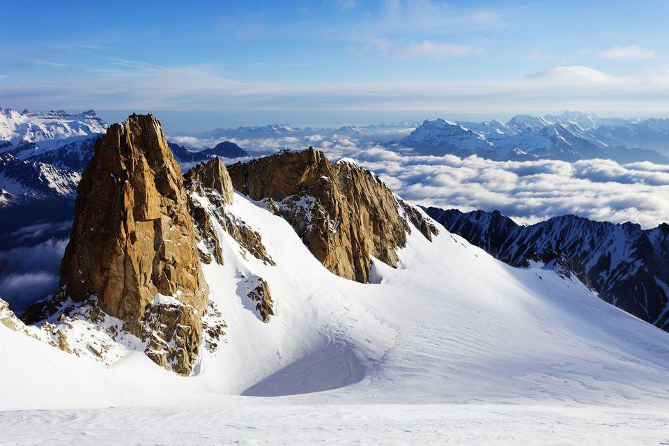 Switzerland, Valais, Swiss French border, Mountain landscape with Glacier du Trient