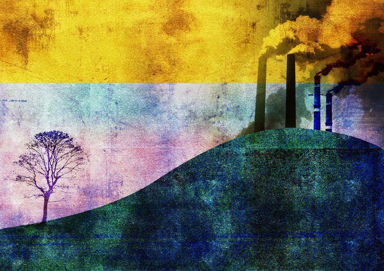 Contaminación ambiental, Ilustración del concepto