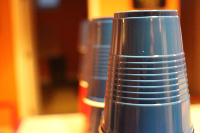 Cup stacking fun