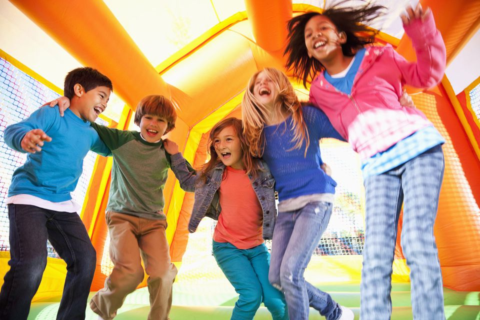 Kids in Bounce House