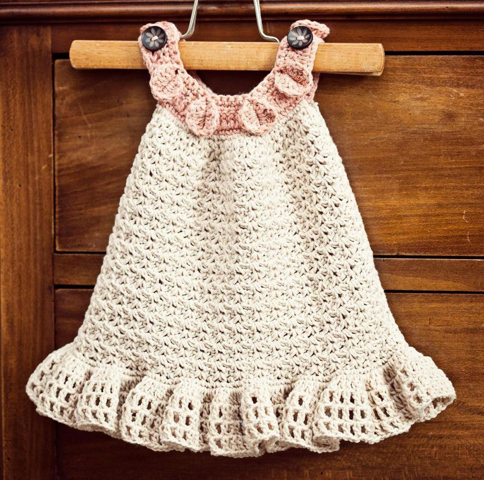 15 adorable crochet baby dress patterns halter ruffle dress crochet pattern bankloansurffo Choice Image