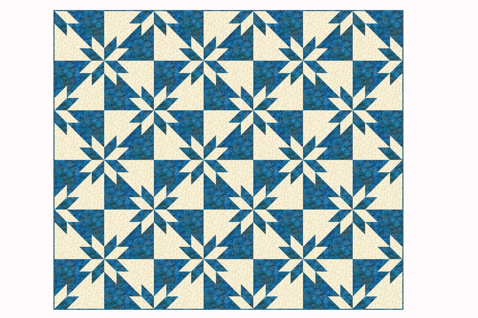 Easy Hunter's Star Quilt Pattern : hunter star quilt pattern - Adamdwight.com